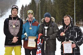 Złoty snowboard