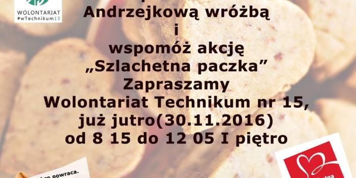 """Kup ciastko z Andrzejkową wróżbą i wspomóż """"Szlachetną paczkę"""""""