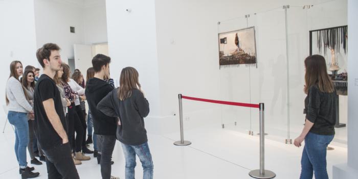 2TE na lekcji muzealnej w Pawilonie Czterech Kopuł