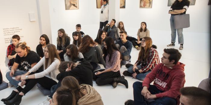 Klasa 1TE  na lekcji Muzealnej w Pawilonie Czterech Kopuł