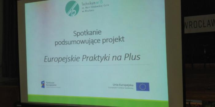 """Podsumowanie """"Europejskich praktyk na plus"""""""