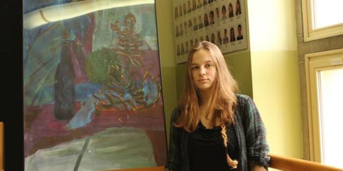 Wystawa Ingi w siechnickim gimnazjum