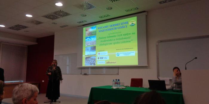 Technik ochrony środowiska na konferencji